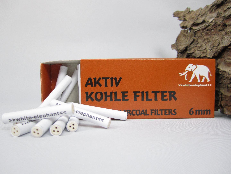 aktivkohlefilter white elephant 6mm 45 st pfeifen shop online. Black Bedroom Furniture Sets. Home Design Ideas