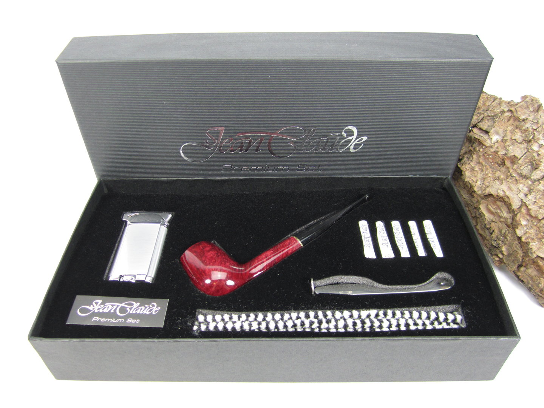 Feuerzeug Filter NEU JEAN CLAUDE Premium Set gerade braun Einsteigerset Pfeife