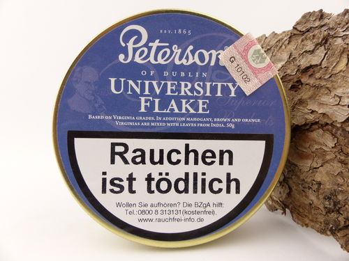 Peterson Pfeifentabak University Flake 50g