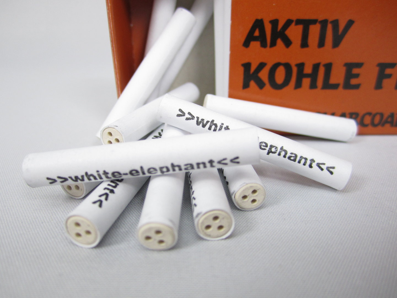 Aktivkohlefilter White Elephant 20mm 20 St.   Pfeifen Shop Online