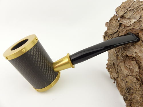 Tsuge Pfeife Yoroi Carbon gold Filter