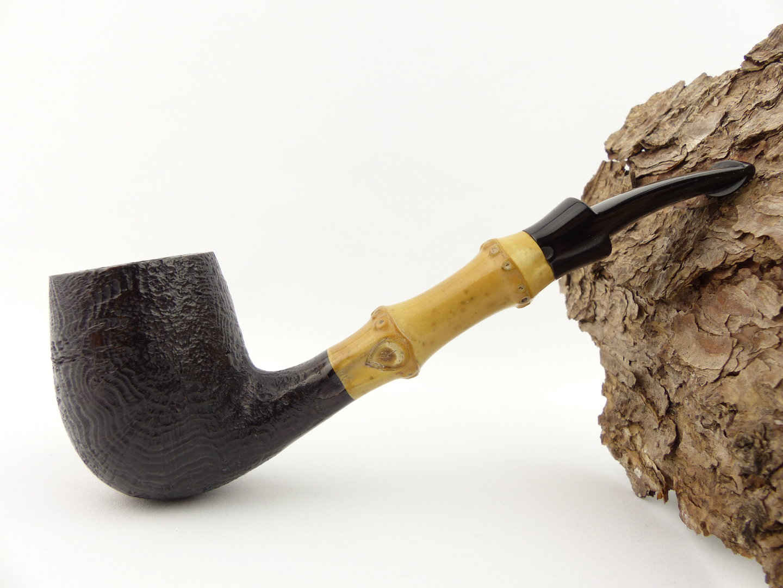 Tsuge Pfeife Bamboo Half Bent sand - Pfeifen Shop Online